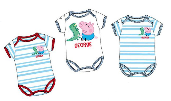 body Peppa Pig George 3 kusy 5652
