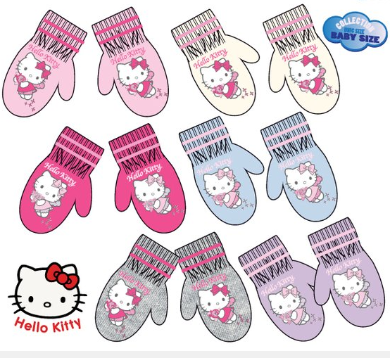 LICENČNÍ RUKAVICE- PALČÁKY HELLO KITTY