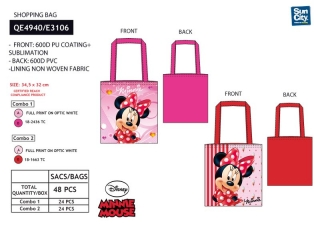SHOPPING BAG  MINNIE 34,5X32 CM
