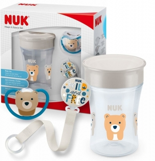 Nuk set Magic Cup Space béžová